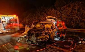 Un fallecido en un accidente provocado por un kamikaze en la 'Y'
