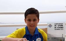 Diego Vergara destaca también en el Nacional sub 14
