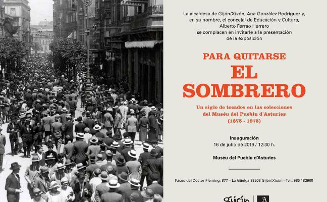 Una exposición para quitarse el sombrero en Gijón