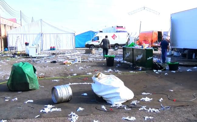 Toneladas de residuos en la Semana Negra