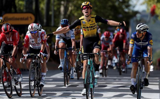 Una caída aleja a Mikel Landa de los puestos de cabeza en el Tour