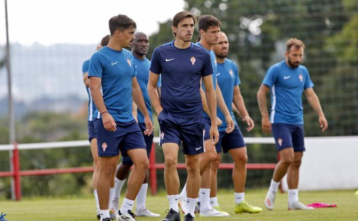 Entrenamiento del Sporting (16/07/2019)