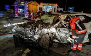 Un kamikaze provoca un brutal accidente con un muerto y cinco heridos en la Y