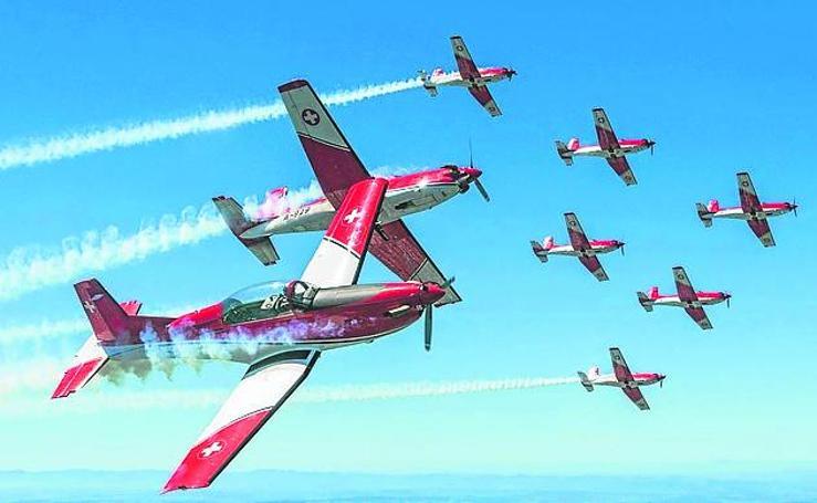 Los aviones del Festival Aéreo de Gijón