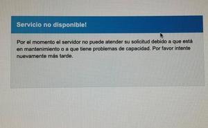 La página para consultar las notas de las oposiciones de Educación, colapsada durante casi una hora