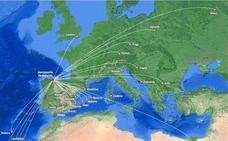 Iberia y Vueling adelantan sus salidas desde Asturias para llenar sus vuelos internacionales