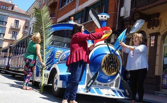 El tren turístico se viste con los colores del Sella