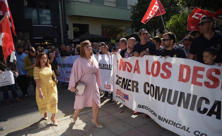 Protesta laboral ante la Junta General