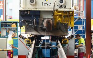 Oleada de cancelaciones en Feve: cuatro de cada diez trenes, fuera de servicio por averías