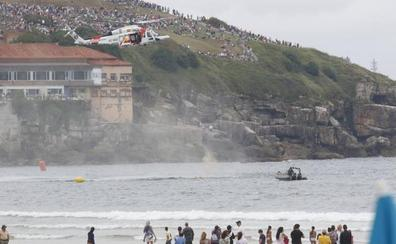 Comienza el Festival Aéreo de Gijón con dos horas y media de retraso