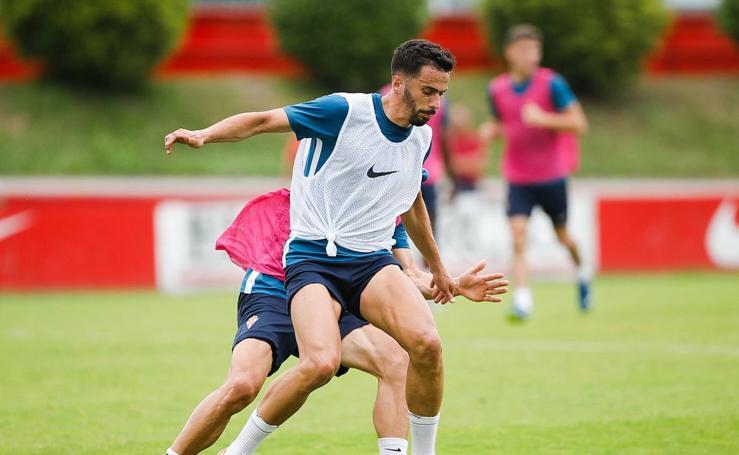 Entrenamiento del Sporting (22-7-19)