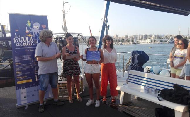 Una estudiante de Siero vive un fin de semana como oceanógrafa