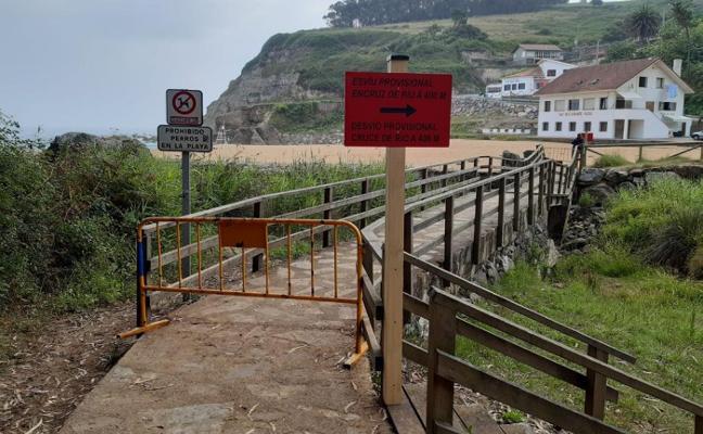 Habilitan un desvío provisional ante el cierre del puente de La Ñora