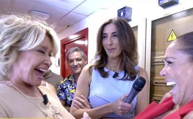 La tonadillera Isabel Pantoja y la colaboradora de Sálvame, Mila Ximénez, se funden en un abrazo en Telecinco tras años de enemistad