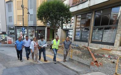 Las obras de reurbanización de la calle Claudio Luanco finalizarán en agosto
