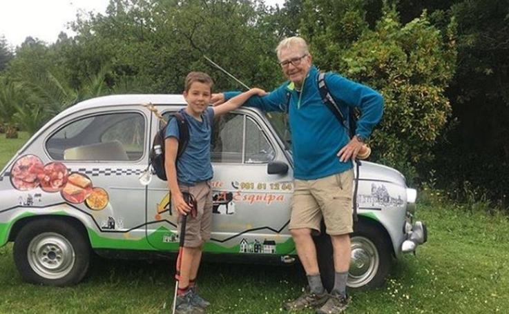 El Camino de Santiago más tierno: un abuelo y un nieto narran su aventura