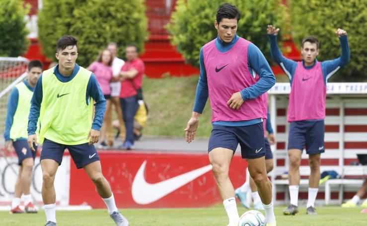 Entrenamiento del Sporting (01-08-2019)