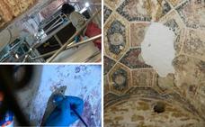 La restauración de San Miguel de Lillo saca a la luz nuevas pinturas murales del siglo IX