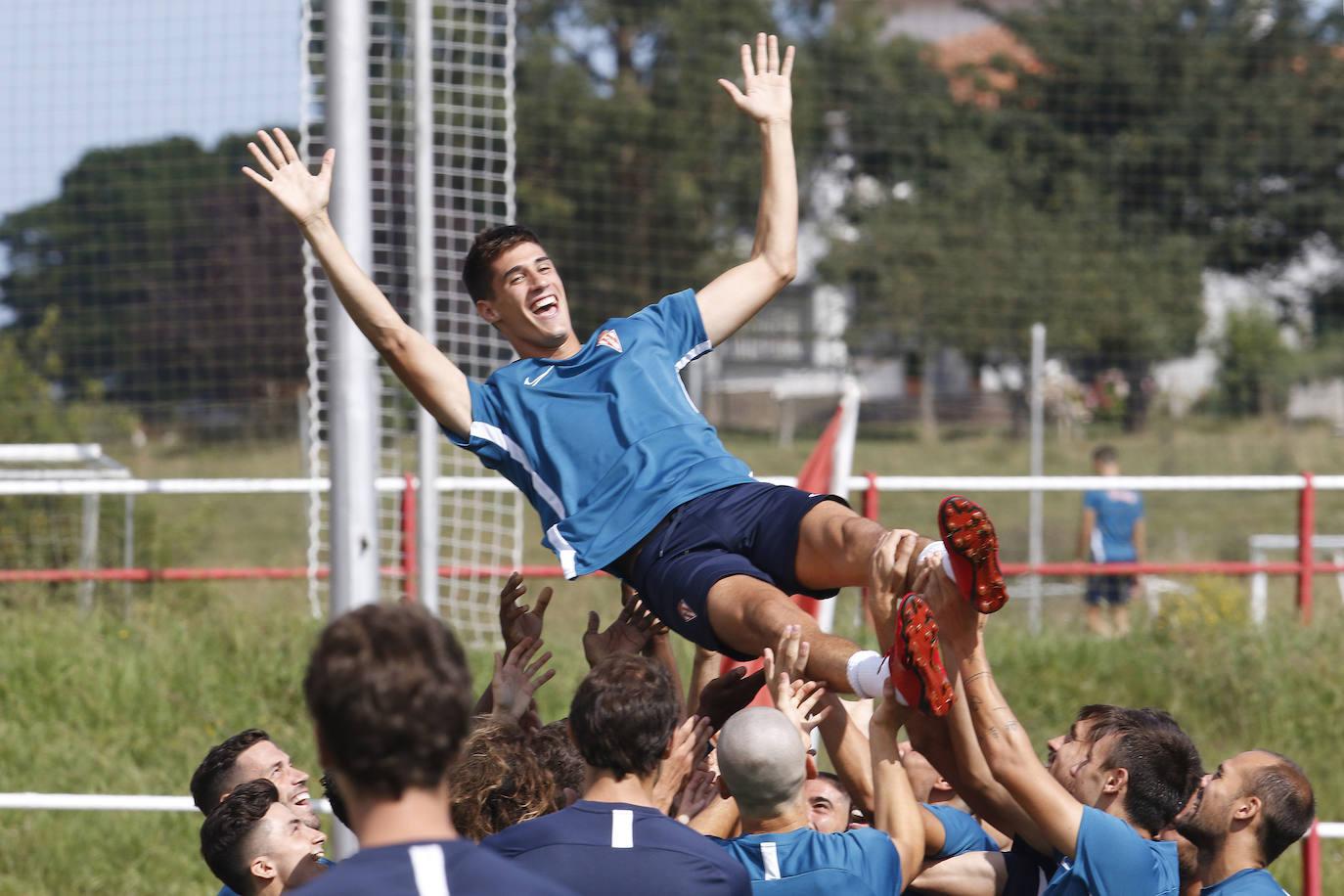 Entrenamiento del Sporting (2/08/2019)