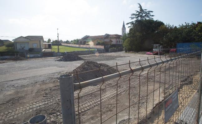 La futura pista polideportiva de Miranda, en obras