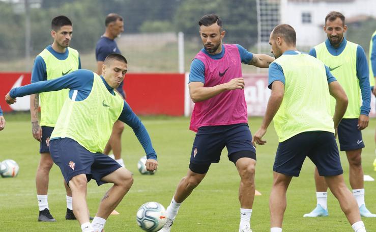 Entrenamiento del Sporting (03-08-2019)