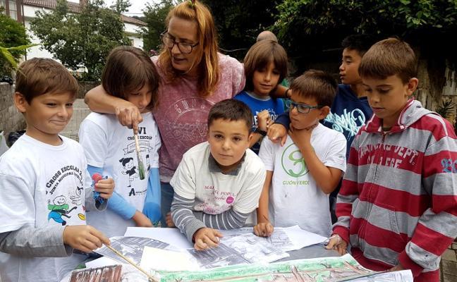 Comienza la sextaferia cultural en Sobrescobio con un taller de pintura