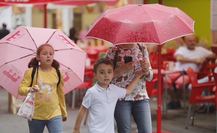 La lluvia desgobierna la tarde en la Feria