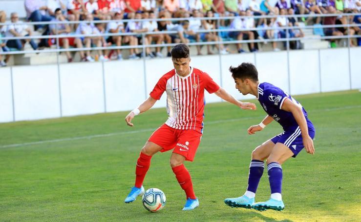 Derrota del Sporting ante el Valladolid en Palencia