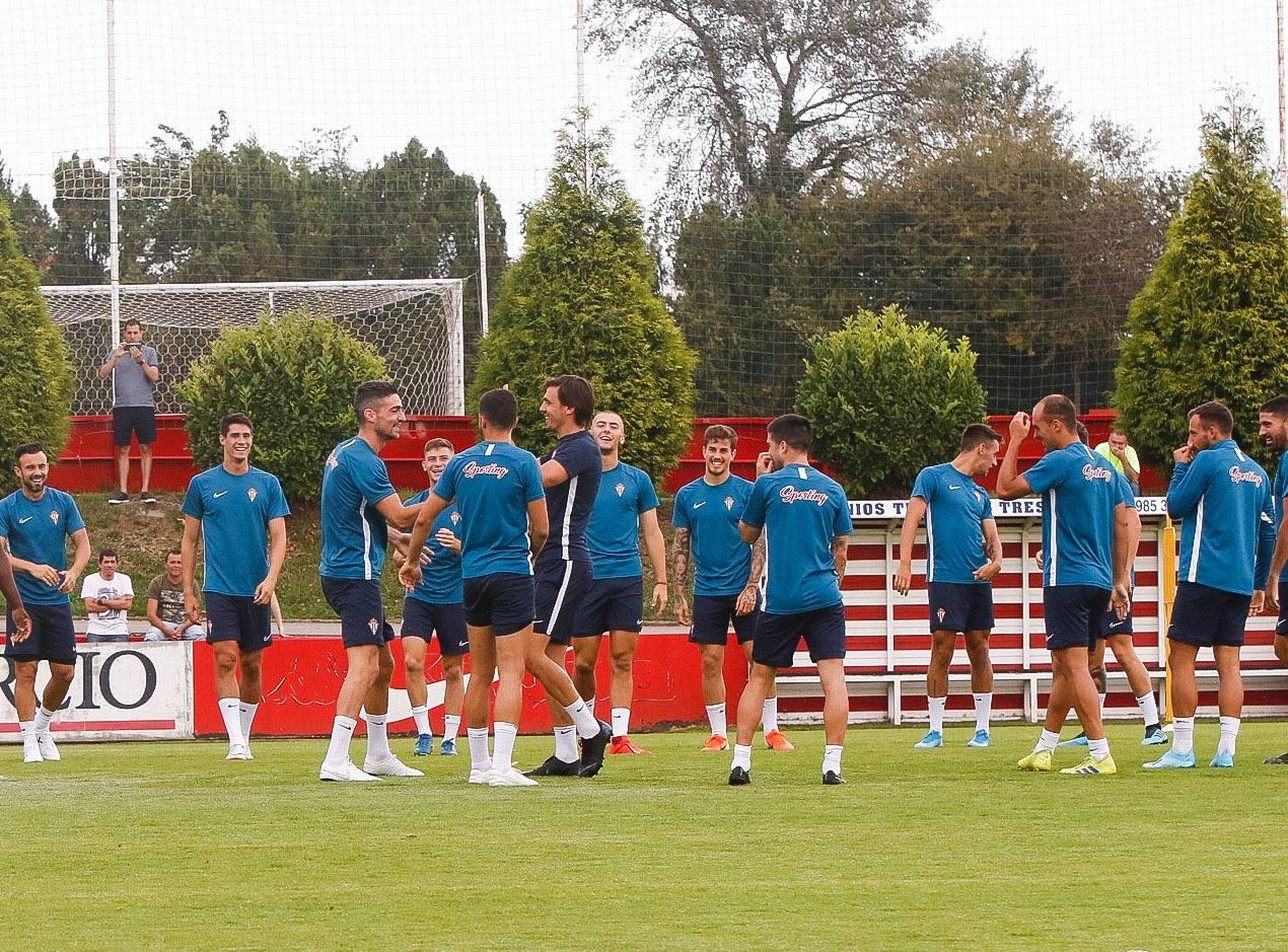 Entrenamiento del Sporting (9/08/2019)