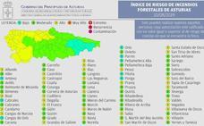31 concejos de Asturias, en riesgo alto de incendio forestal