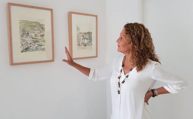 Quince acuarelas de la artista Marta Cristos lucen en el Liceo de Luarca