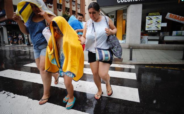 Las tormentas bajan las temperaturas en Asturias