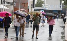 Día de lluvia en la Feria de Muestras