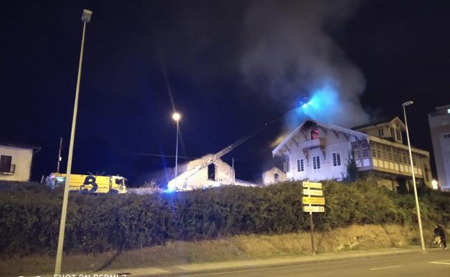 Arde una casa en La Magdalena