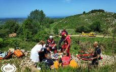 Herido al volcar con un quad en Ribadedeva
