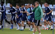 Entrenamiento del Real Oviedo del 15 de agosto de 2019