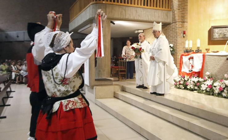 Misa en honor a la Virgen de Begoña en Gijón