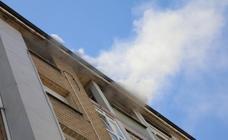 Alarma en Gijón por un incendio en un piso