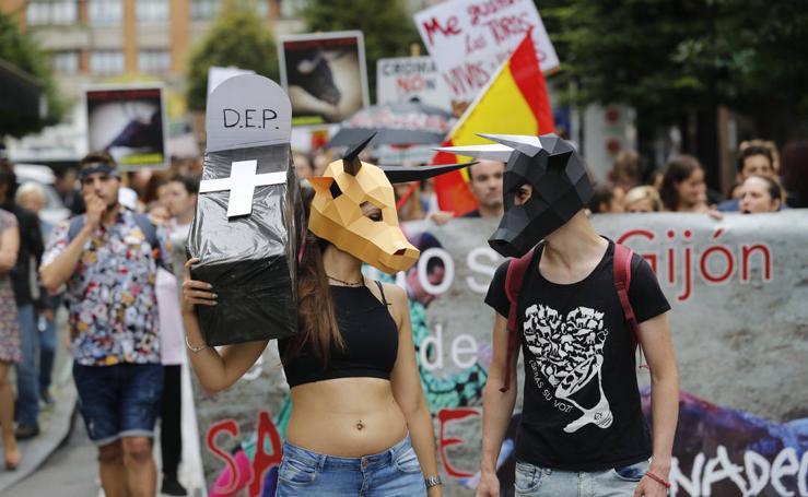 Manifestación por un «Gijón sin toros»