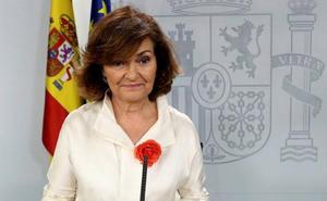 Carmen Calvo acusa a Podemos de lanzar un «órdago impositivo» con su última oferta