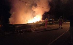 Alarma en Argüero, Villaviciosa, por un incendio forestal