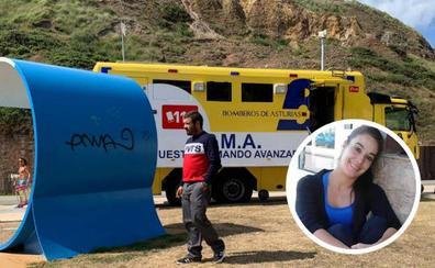 Finaliza el rastreo para encontrar a Dévora Salas, la luanquina que cayó al mar en Castrillón