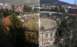 El antes y después de la plaza de toros de Oviedo