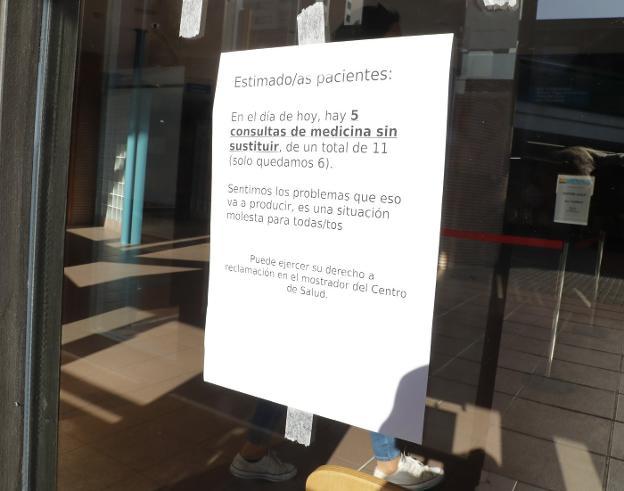 La falta de médicos deja ya centros de salud con la mitad de consultas cerradas