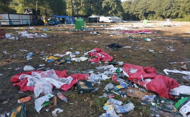 Retirar las toneladas de basura del campo de San Timoteo llevará varios días