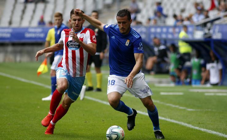 El Real Oviedo empata ante el Lugo (1-1) en el Tartiere