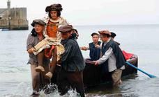 Carlos V desembarca en la playa de Tazones