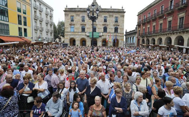 Gijón se entona con cancios