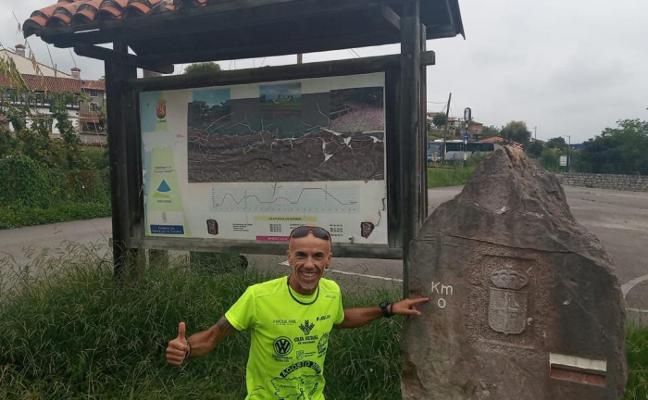 Pedro Cuenca supera el reto y recorre Asturias en seis días