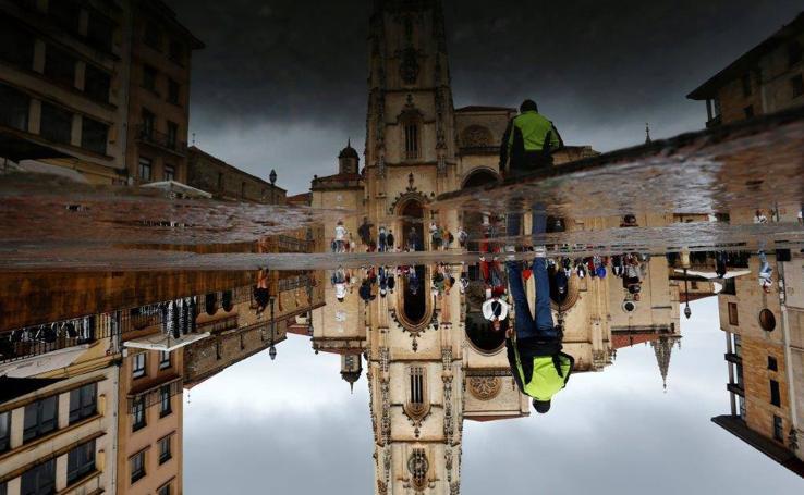 Domingo de lluvia y tormentas en Asturias